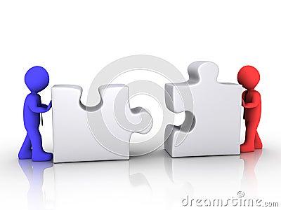 Different businessmen unite