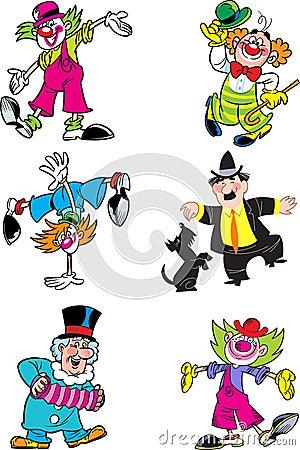 Different clowns