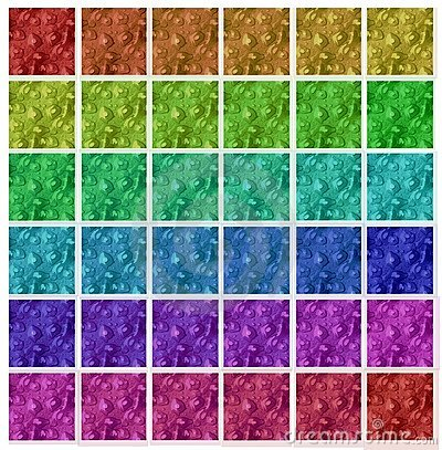 Different color seamless flowery backgrounds