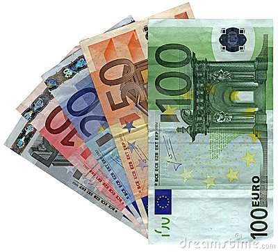 Free Different Colorful Euro Isolated, Savings Wealth Stock Images - 10977654