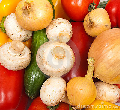 Different colorful fresh vegetables
