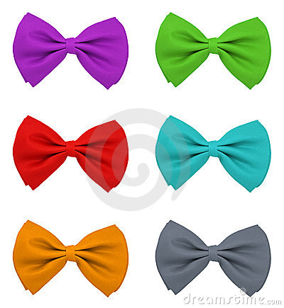 Different colour bow ties