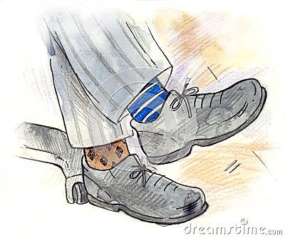 Different Colour Socks