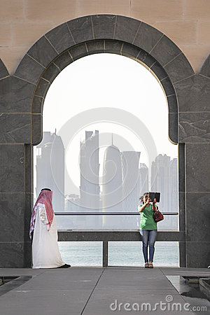 Free Different Cultures In Doha Stock Photography - 56164942