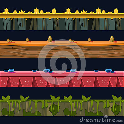 Free Different Environments Platformer Level Floor Design Set Stock Photo - 69359130