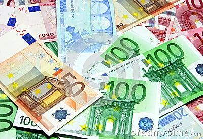 Different euro bills