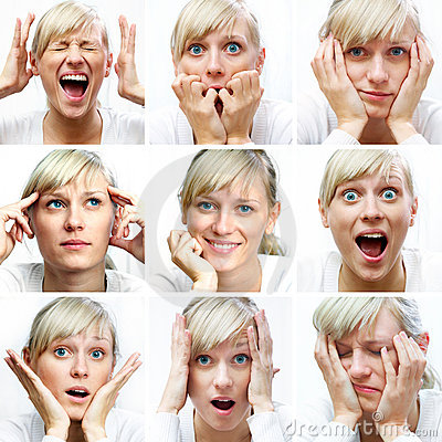 Free Different Facial Expressions Royalty Free Stock Photo - 17242835