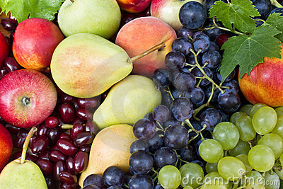 Different fresh fruit