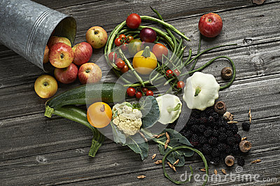 Different fruits and vegetables