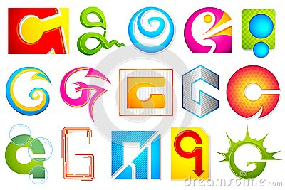 Different Icon with alphabet G