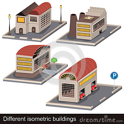 Different isometric buildings