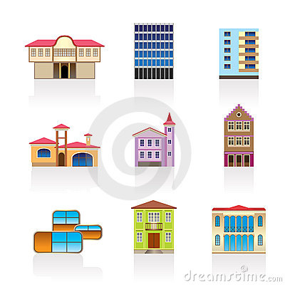 Different kind of houses and buildings 2