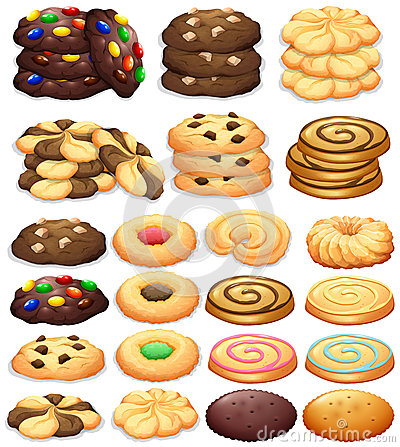 Free Different Kind Of Cookies Royalty Free Stock Image - 65747356