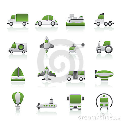 Different kind of transportation icons