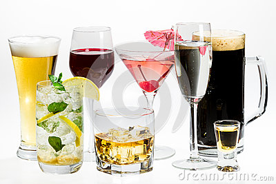 Different kinds of alcohol