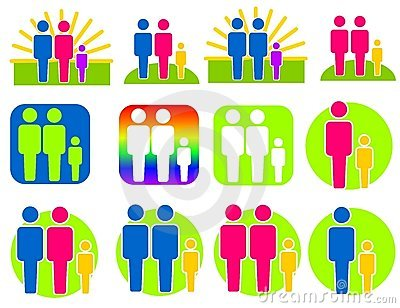 Different Kinds of Families Clip Art