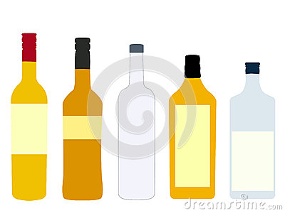 Different Kinds of Spirits Bottles