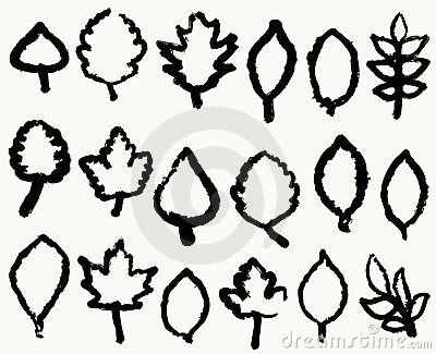 Different leafs handwriting