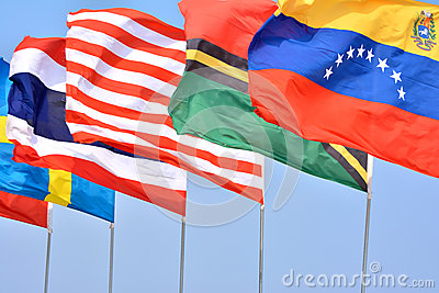 Different National flags