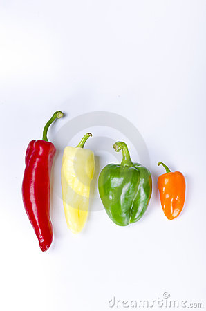 Different paprika kinds