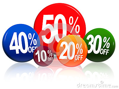 Different percentages in color circles