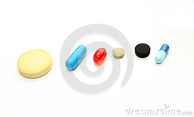 Different pharmacological preparations - tablets and pills