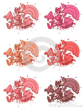 Free Different Shades Of Powder Blush Stock Photography - 42256302