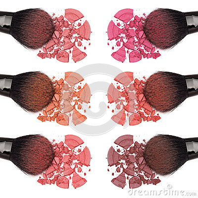 Free Different Shades Of Powder Blush Stock Photos - 53350163