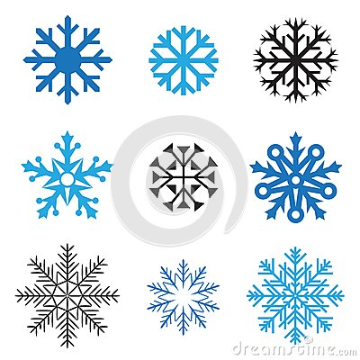 Different snowflakes