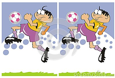 Different soccer players