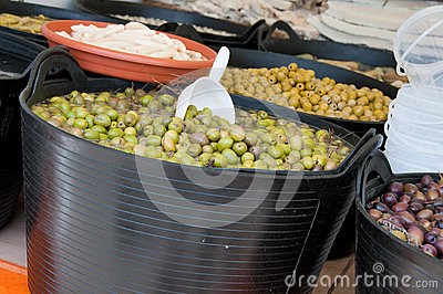 Different sorts of olives