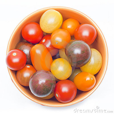 Different sorts of tomatoes.