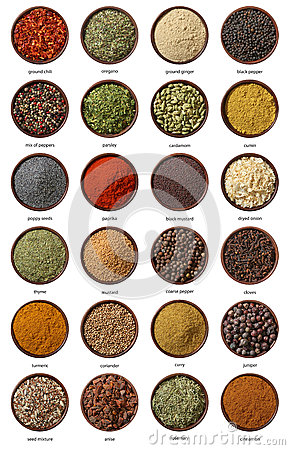 Free Different Spices Isolated On White Background. Stock Photos - 27898483