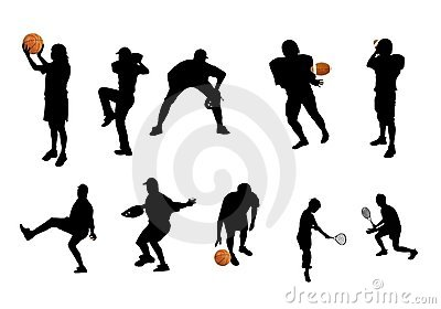 Different sports silhouettes