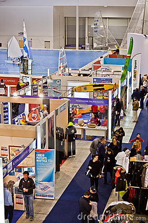 Different Stands At Big Blue Sea Expo, Rome, 2011 Editorial Image