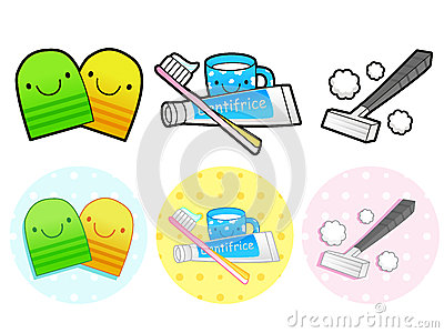 Different Styles Of Toiletries Sets. Household Items Vector Icon Royalty Free Stock ...