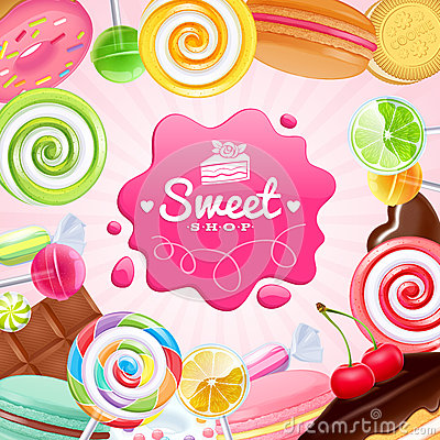 Free Different Sweets Colorful Background. Royalty Free Stock Images - 47351529