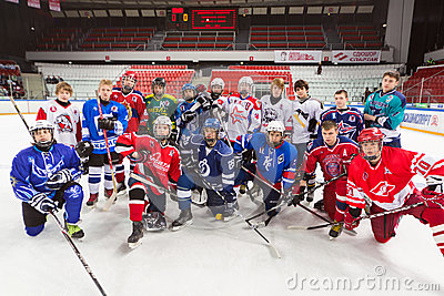 Different teams gathered for a group photography Editorial Stock Image