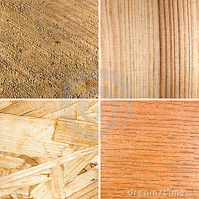 Different textures of wood
