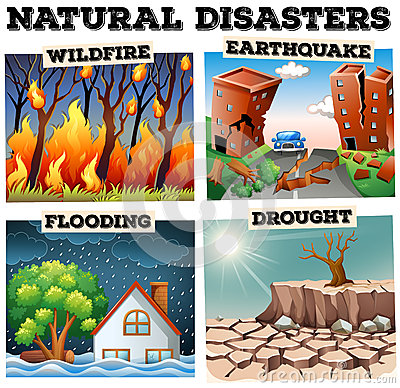 Natural Disasters Illustration