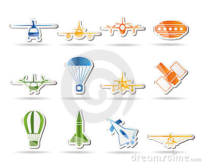 Different types of Aircraft Illustrations