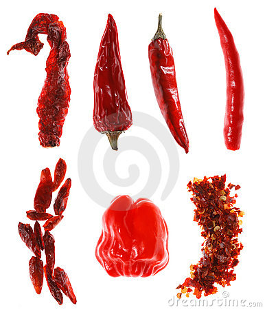 Free Different Types Of Red Chillies Stock Images - 6289474