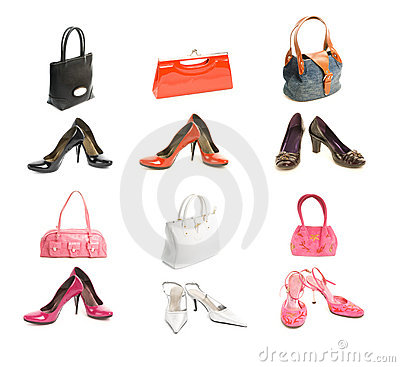 Free Different Types Shoes And Bags Stock Images - 6397664