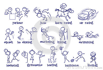 sports types different background illustration vector activity