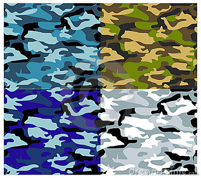Different Types Vector Camouflage