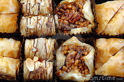 Different Varieties of Baklava