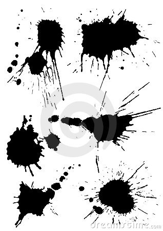 Free Different Vector Splashes Royalty Free Stock Images - 6900949