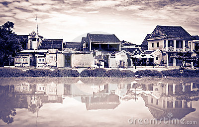 Different vintage look of Hoi An, Vietnam, UNESCO
