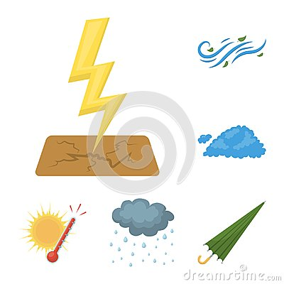 Free Different Weather Cartoon Icons In Set Collection For Design.Signs And Characteristics Of The Weather Vector Symbol Stock Image - 115563521