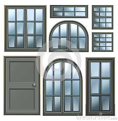 Different windows design royalty free stock photography for Different window designs